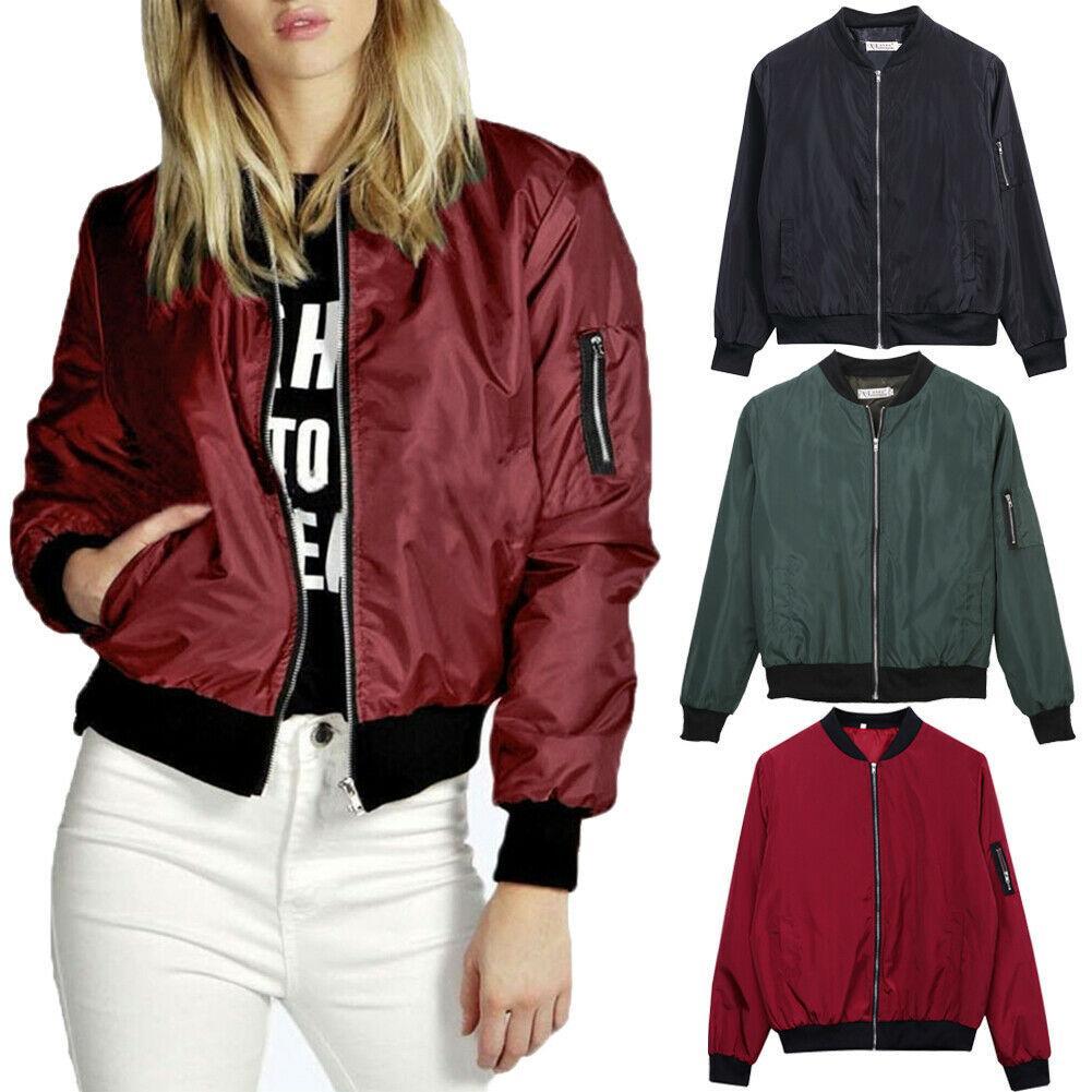Neue Art und Weise weibliche Jacken Outwear Windjacke Frauen-Sommer-Coats Langarmshirt Basic Jacken Bomber Thin Damen Jacke