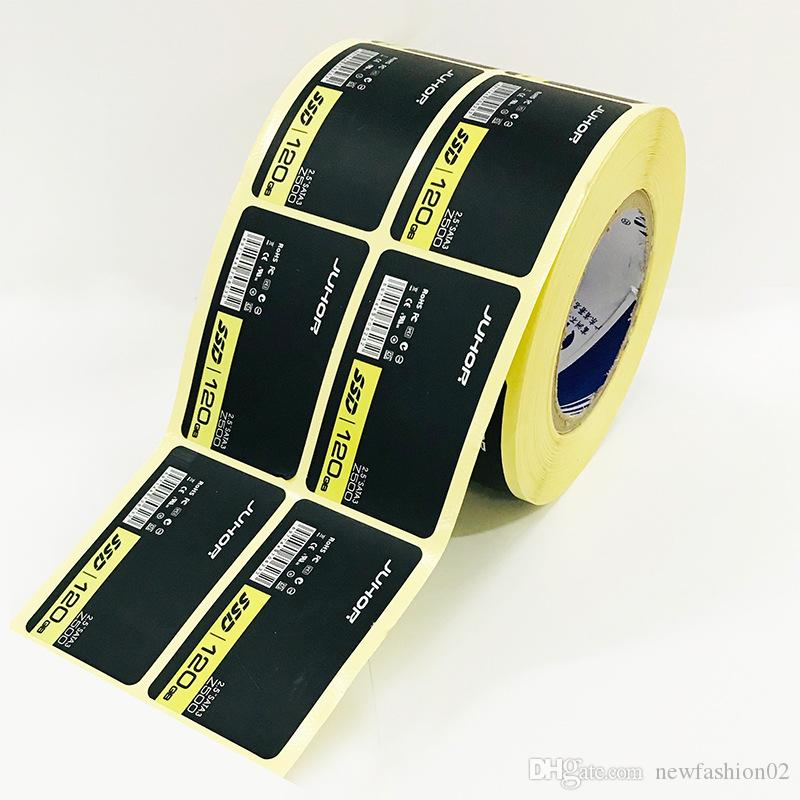 La máquina de etiquetas de advertencia electricónica de rollo personalizado recuerda la etiqueta de vinilo en un paquete personalizado de laminación mate etiqueta adhesiva