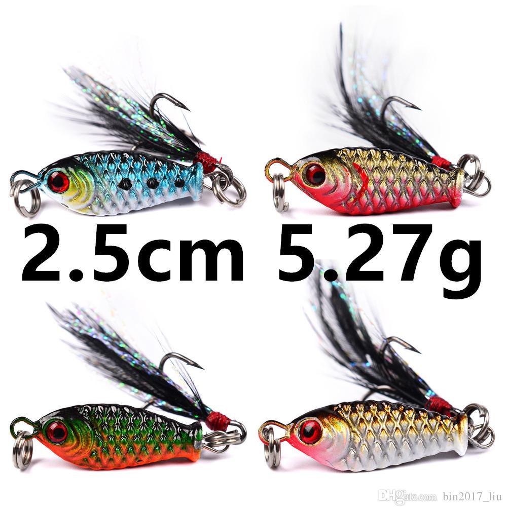 4 cores 2,5 centímetros 5,27 g Jigs Fishing Hooks anzóis 8 # gancho de metal Iscas Lures d-004