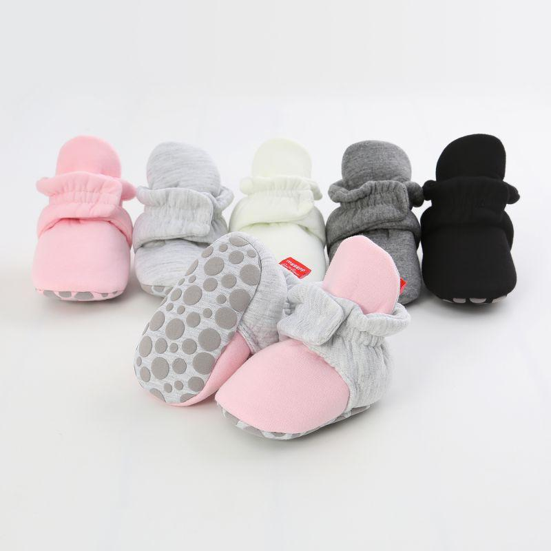 Soft Warm First Walkers Booties Infant Crib Shoes Cotton Floor Socks Baby Socks