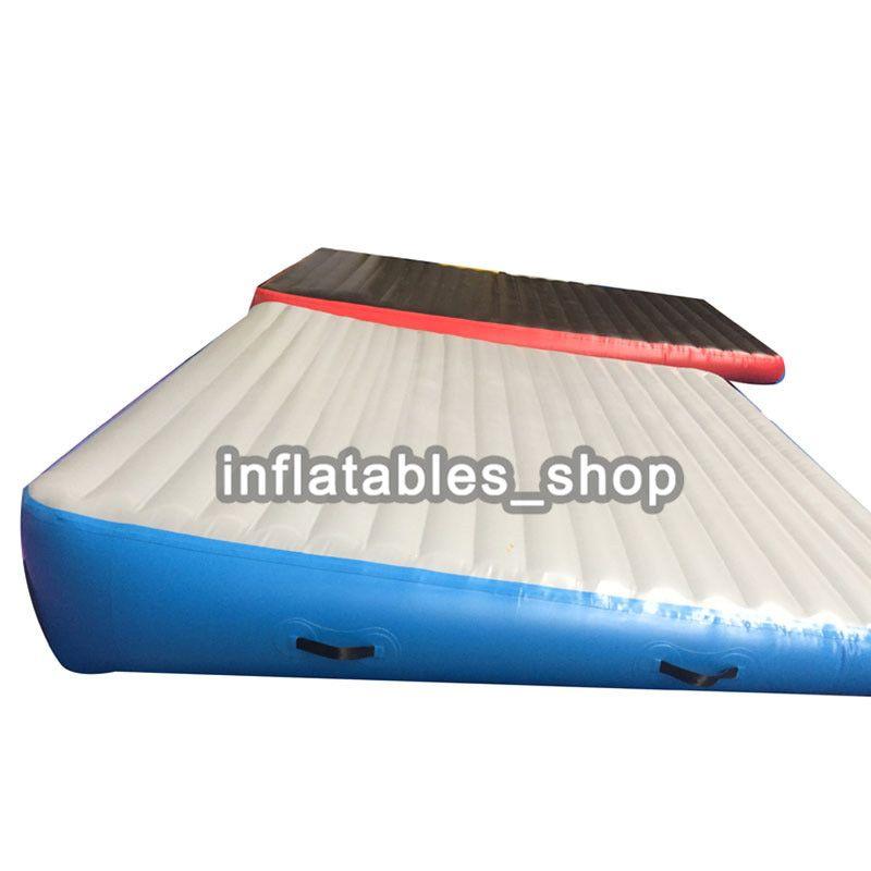 Ücretsiz kargo Imalatı şişme hava rampa / şişme hava parça rampa / jimnastik hava eğim üçgen rampa paspaslar ile bir pompa