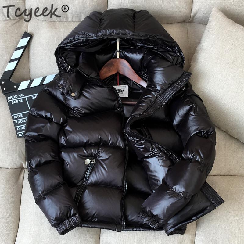 Tcyeek Hiver Down Jacket Femmes Manteau Épais Chaud Femme Capuche Courtes Femmes Parkas Coats LWL1116
