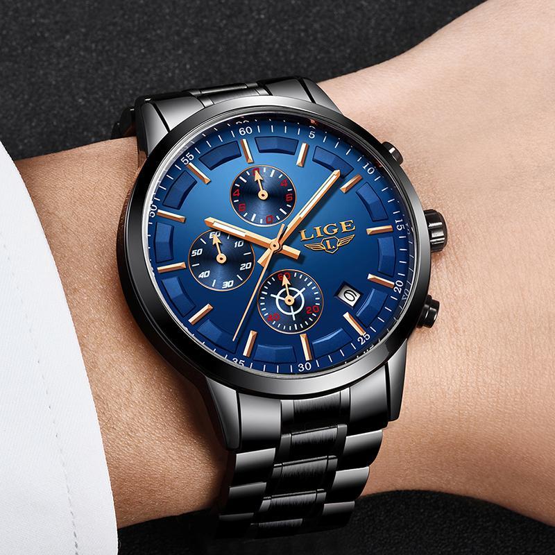 Reloj del negocio de la moda al por mayor para los hombres del reloj para hombre Relojes de primeras marcas masculino impermeable de lujo del reloj de cuarzo Zegarek Hombre de deporte