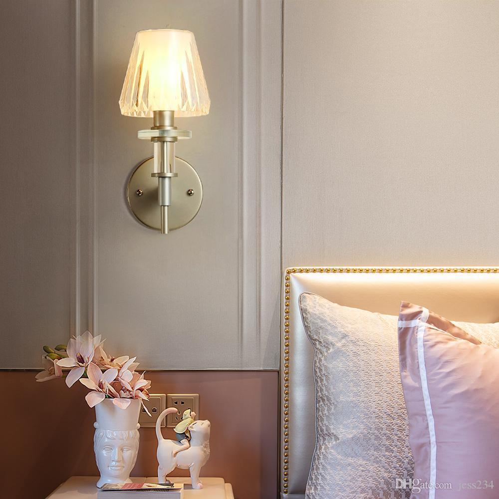Lampada da parete moderna classica della parete del comodino della parete del comodino AC 110 V 220 V Cucina Ristorante Ristorante Soggiorno Bagno LED luce interna