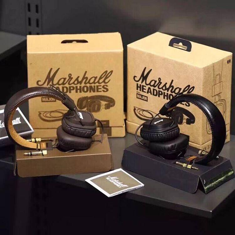 auriculares con micrófono Marshall Major Deep Bass DJ de los auriculares de alta fidelidad auricular profesional de DJ del monitor sobre la oreja los auriculares con el paquete al por menor