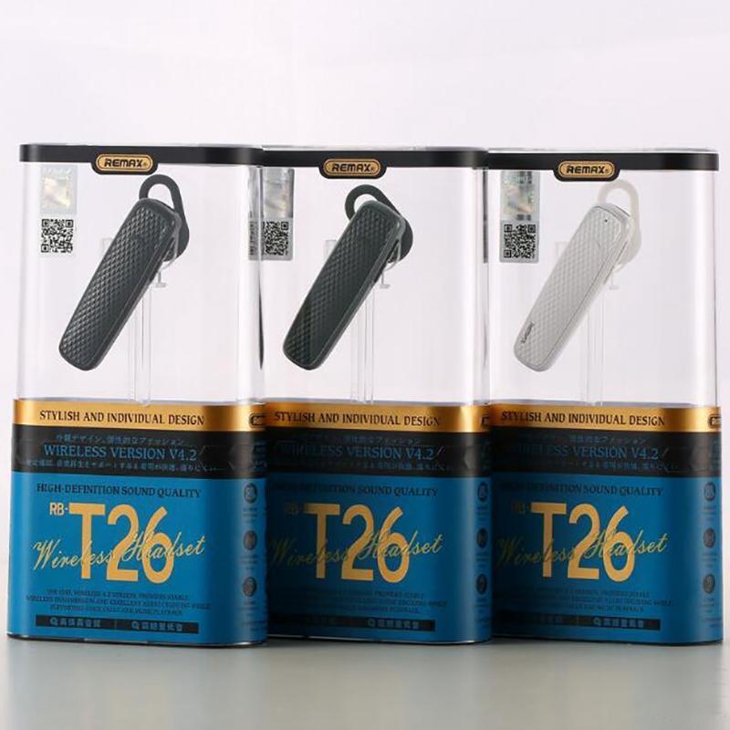 smarpthone에 대한 기존 Remax의 RB-T26 블루투스 이어폰 일방적 스테레오 블루투스 통화 잡음 제거 헤드폰 음악 블루투스 헤드셋