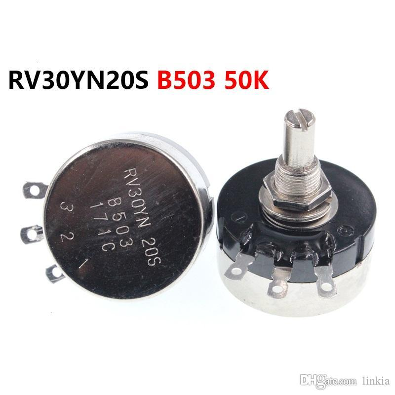 Single turn carbon film potentiometer RV30YN20S B503 50K 3W adjustable resistor