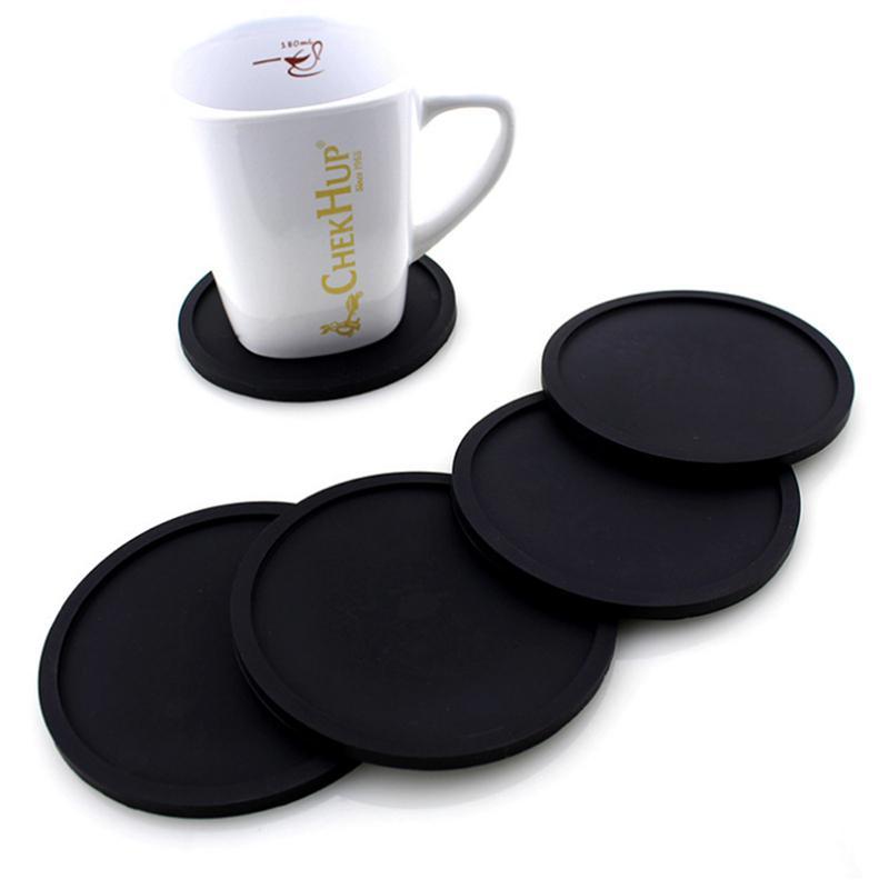 Farbige Silikon Runde Coaster Kaffeetasse-Halter Wasserdicht Hitzebeständige Schalen-Matte verdicken Coffee Coaster Kissen Tischset Pad DBC DH1102