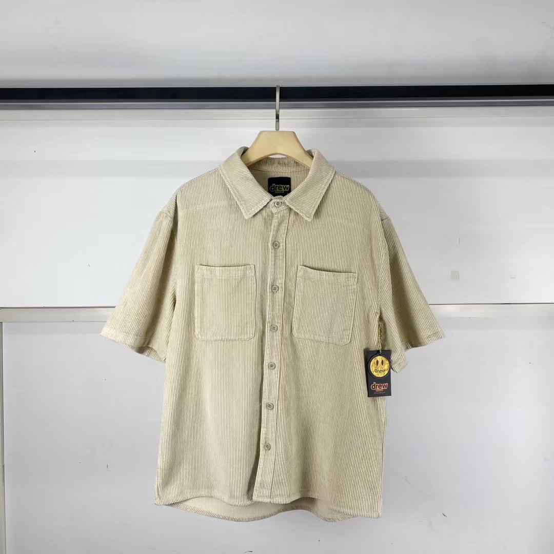 Haki Gömlek Yeni Kadife Gömlek Erkekler Kadınlar Casual Kısa Kollu Gömlek Hiphop Bay Bayan Unisex