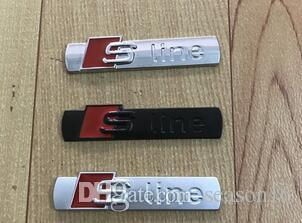 3D S Line Sline Car Front Grille Emblem Badge Metal Alloy Stickers Accessories Styling For Audi A1 A3 A4 B6 B8 B5 B7 A5 A6 C5 C6 A7 TT
