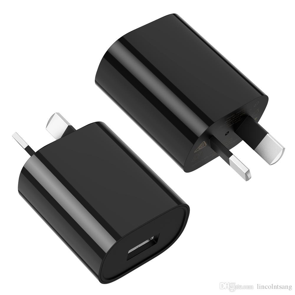 نوعية جيدة استراليا ونيوزيلندا 5V 1A الاتحاد الافريقي التوصيل USB AC الحائط الرئيسية شاحن الطاقة لسامسونج غالاكسي ملاحظة S6 S7