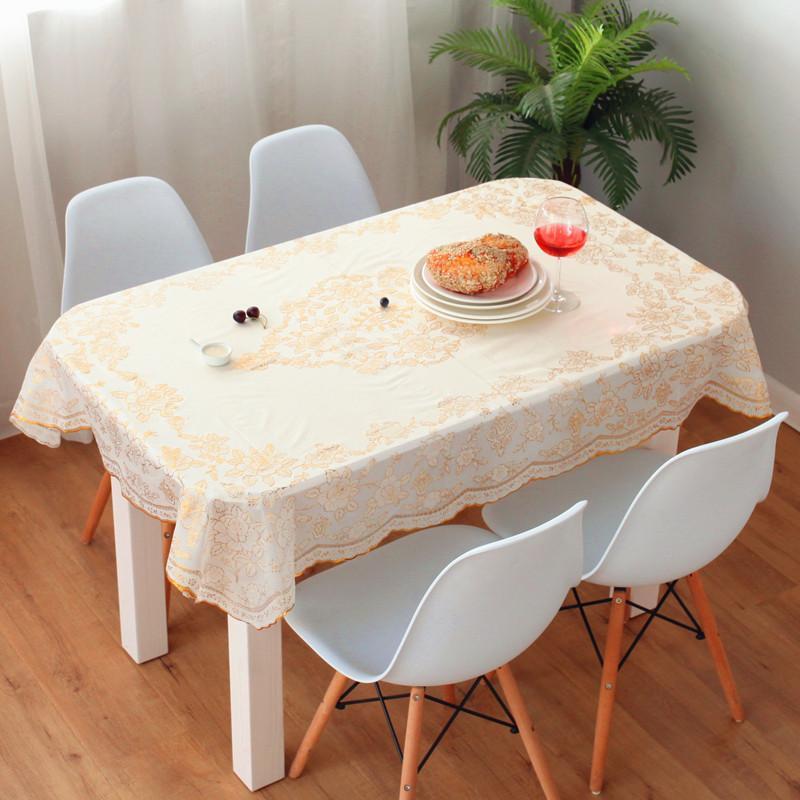وردة نيوبومو البلاستيكية pvc مستطيلة مفرش مائدة ضد الماء و oiproof garden hotel home table clothing