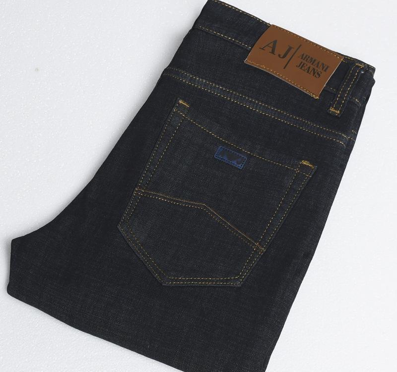 Kış Erkek pantolon Stretch kot% 100 pamuk cashmer pantolon koyu pantolon düz iş rahat ÜCRETSİZ GÖNDERİM AARMA ** II 6829 yıkanır