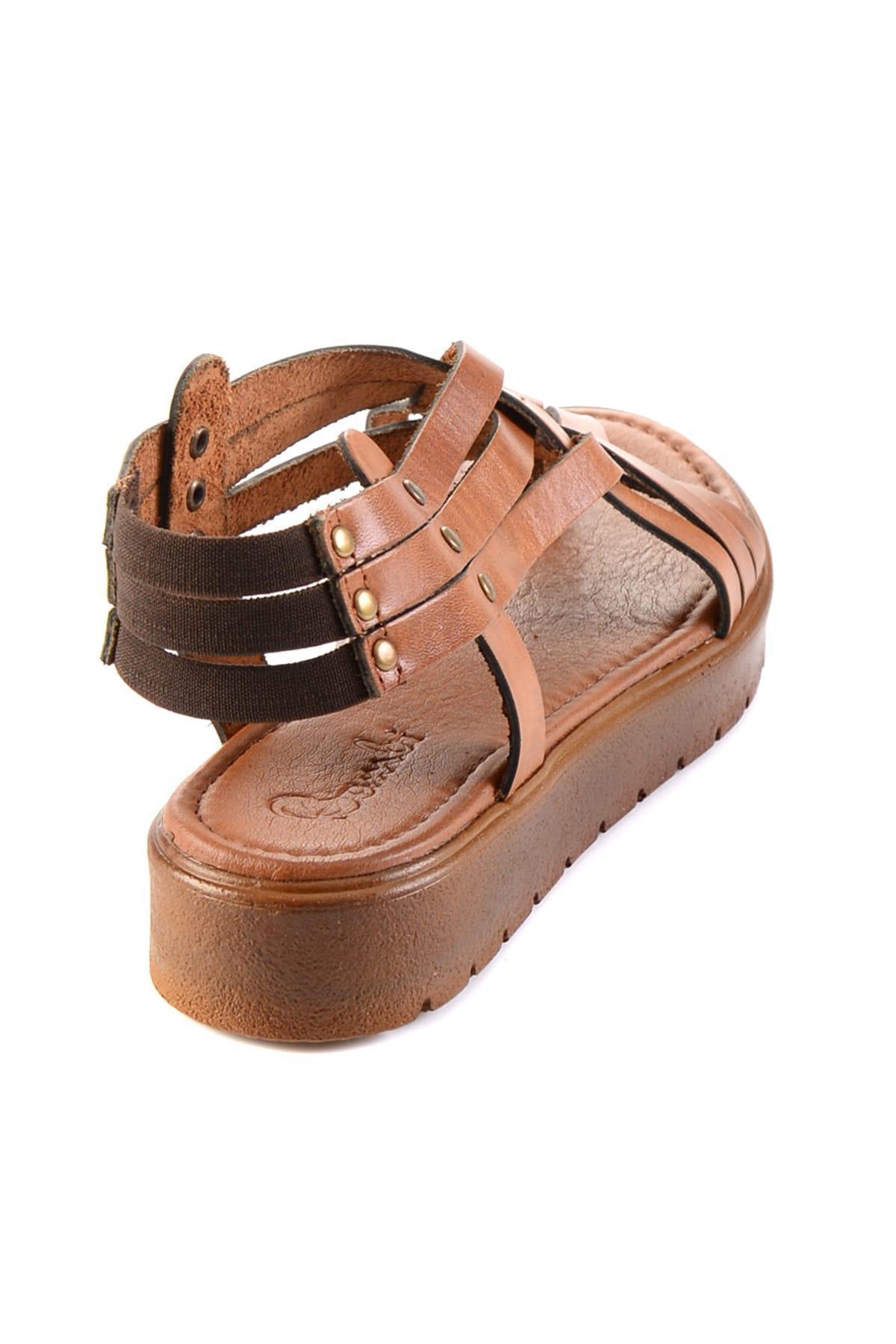 Bambi Gerçek Deri Tan Kadın S Sandalet H0529030503