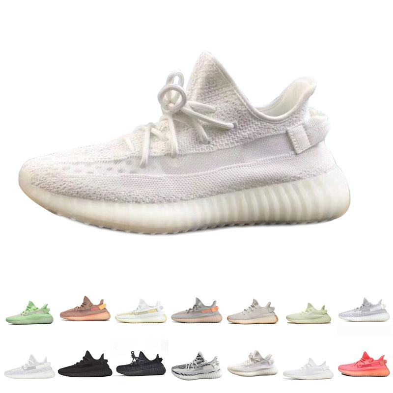 Fast Delivery Kanye West Clay V2 Static Reflective Glow In The Dark Mens Running Shoes Hyperspace True Form Women Sports desigoer Sneakers