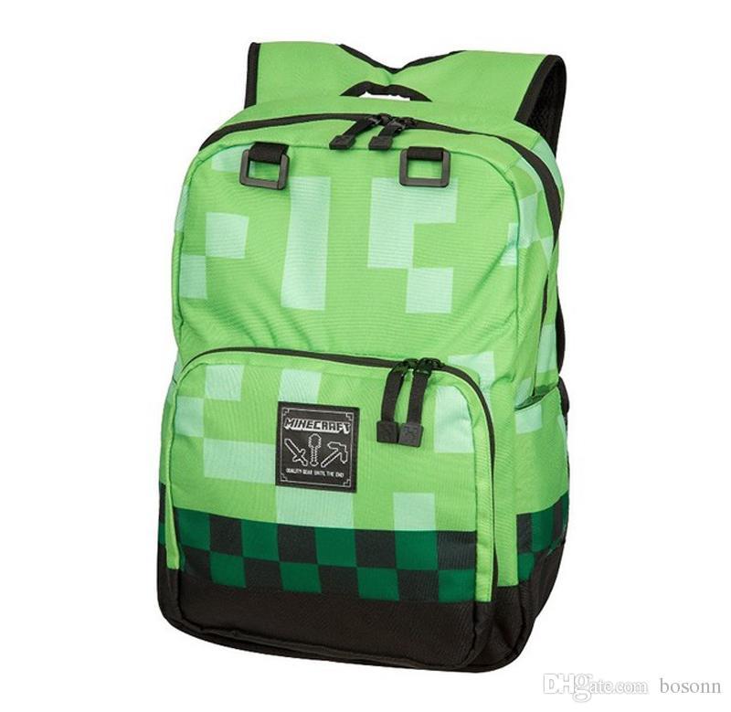 Minecraft sırt çantası 2021 çocuk okul çantaları erkek sırt çantası seyahat çocuklar için çanta öğrenciler omuzlar çantası wwtug