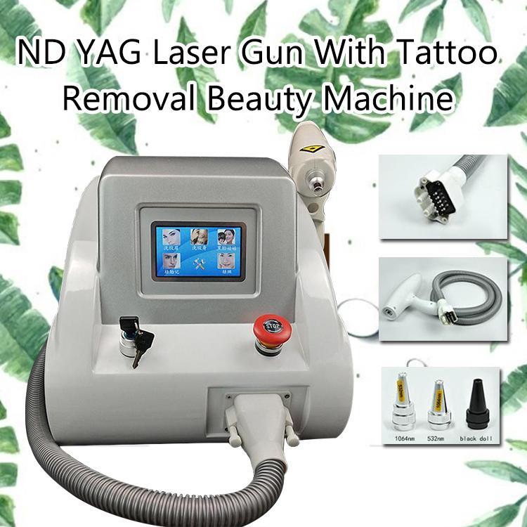 آلة إزالة الوشم بالليزر q-switched nd yag laser Birthmark Black Doll treatment 10hz Frequency 1064 الطلقات