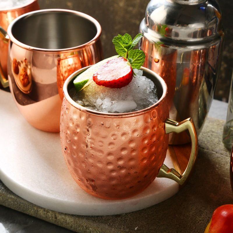 550Ml 단조 구리 도금 모스크바 뮬 머그컵 맥주 컵 커피 컵 머그잔 구리 도금 스테인레스 스틸 컵과 머그컵