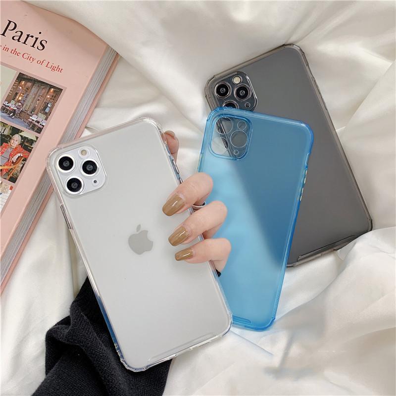 Mignon solide demi transparent pleine protection mat Téléphone pour iPhone 11 cas Xr Xs Max 7 8 Plus étui souple Tpu cas Couverture