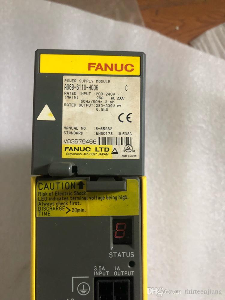 1 ADET Orijinal Fanuc Servo Amplifikatör A06B-6110-H006 Ücretsiz Hızlandırılmış Kargo Kullanılan Test Tamam Iyi Durumda