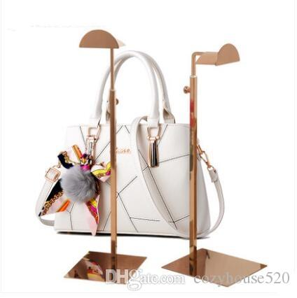 wholesale Silver metal female Jewelry Stand mannequin for handbag shoe display Adjustable height thick base stainless steel rack 1pc C206