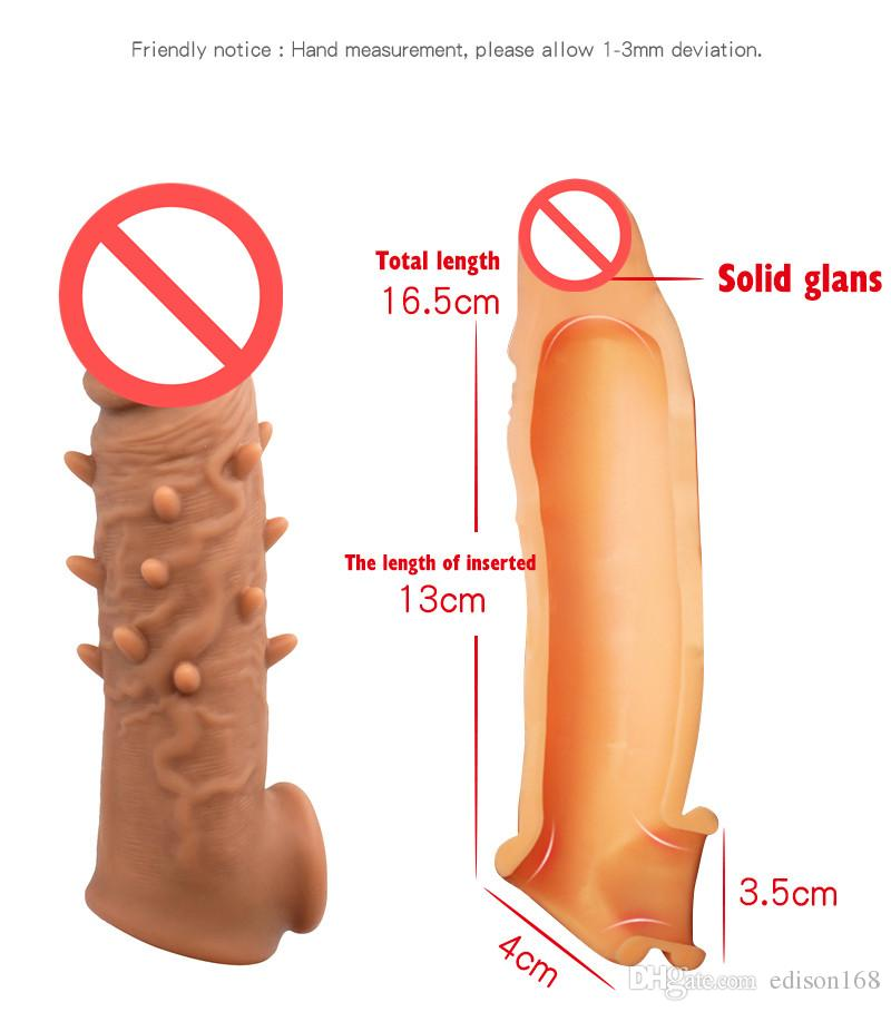 Latest Silicone Penis Enlargement Sleeve With Spines Extender Cock