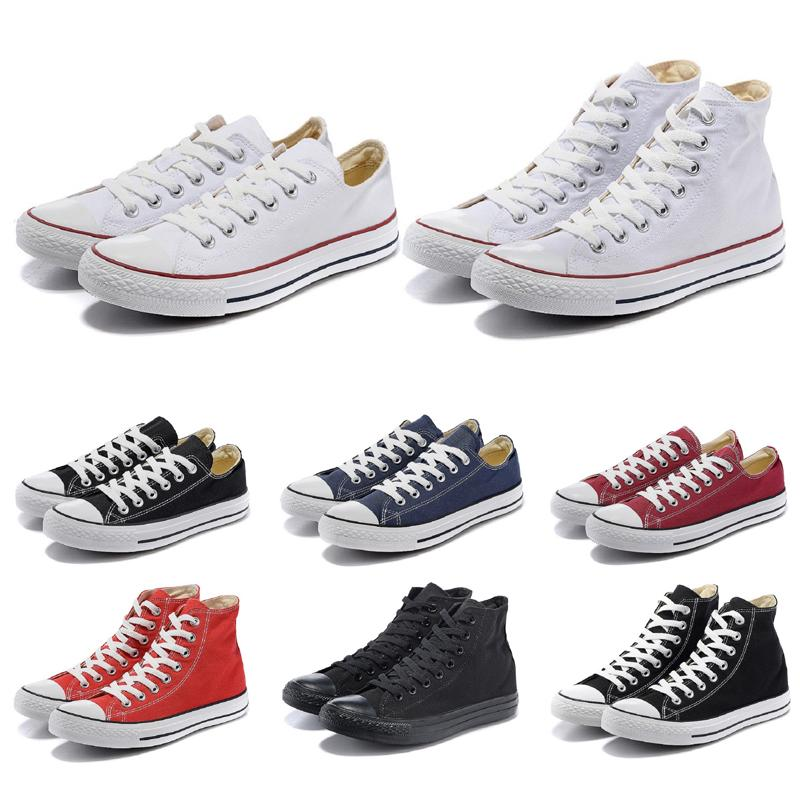 Converse Shoes Toile des années 1970 All Star Ox Designer Casual Chaussures Salut Reconstruit Slam Jam Noir Hommes Formateurs Skateboard Sports Sneakers Taille 36-44