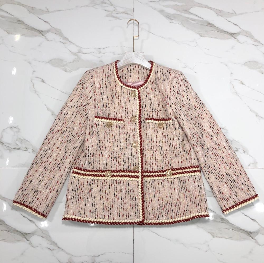 2019 spring new blazer normal version and fashion design light PINK color blazer for ladies and femme Y200107