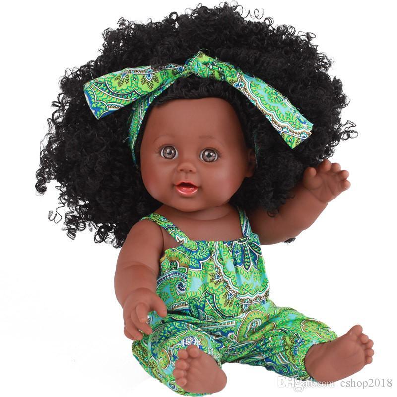 À la mode noir fille poupées afro-américaine jouer poupées réaliste 12 pouces bébé cadeau de noël jouer bon pour les enfants jouets