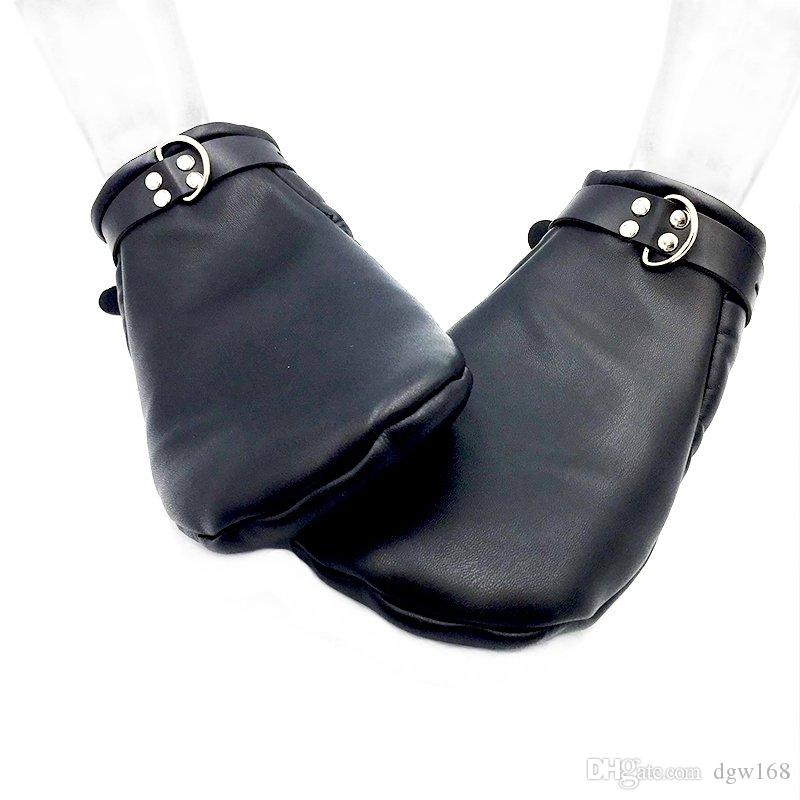 Puppy Bdsm Mittens,Leather Gloves Dog Paw Palm Padded Fist Mitts Bondage,Pet Play Accessories, Sex Toys For Couples