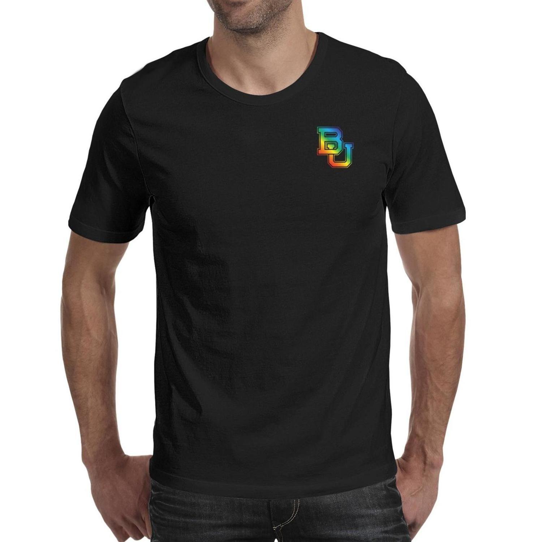 رجل الطباعة تكساس بايلور بيرز كرة القدم فخر قوس قزح شعار أسود تي شيرت تصميم يتأهل بطل قمصان قمصان شجرة التمويه الأمريكية