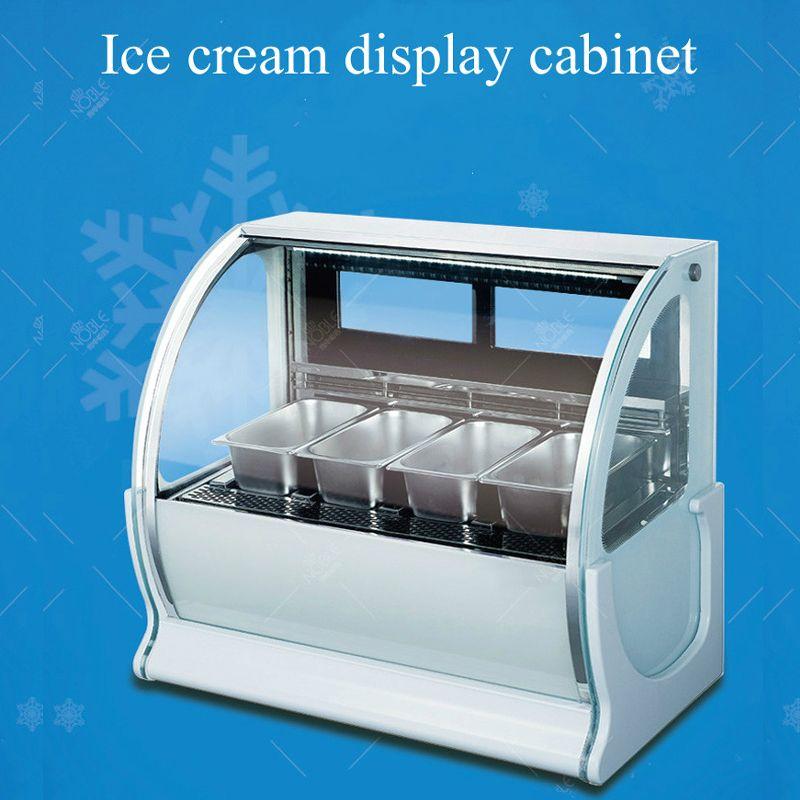 vitrine de la crème glacée commerciale pour le magasin de supermarché magasin de boissons froides vitrine de la crème glacée de la bouillie de glace de restaurant