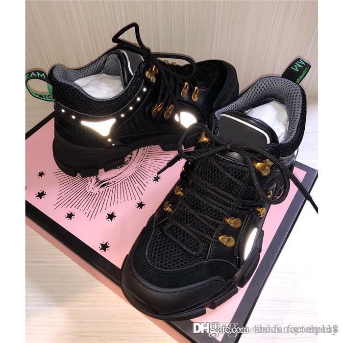 Ladies Série queda tênis de inverno retro sapatos pai legal de flash cintilação contraste colorido montanhismo sapatos, com caixa