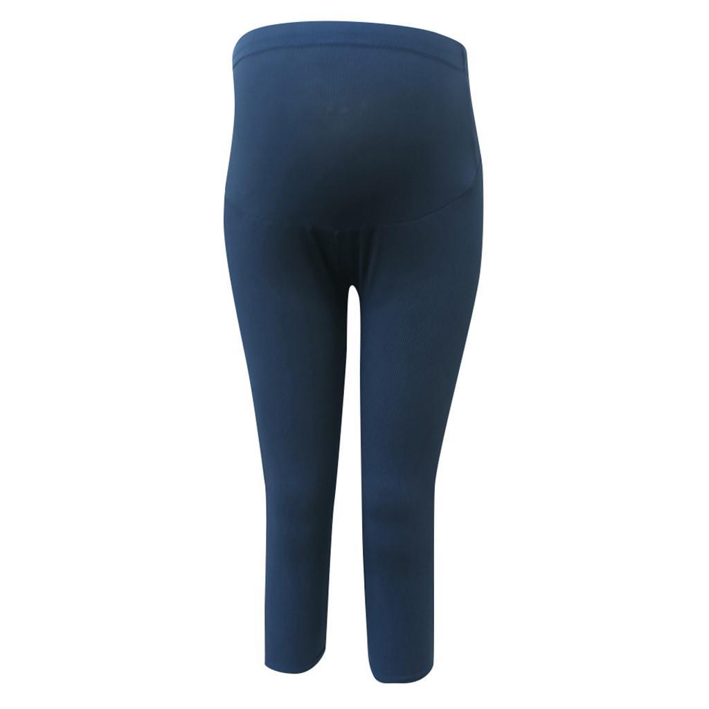 LONSANT Pantalons de maternité leggings skinny étirement femmes enceintes pantalon crayon veau-longueur grossesse vêtements porter printemps