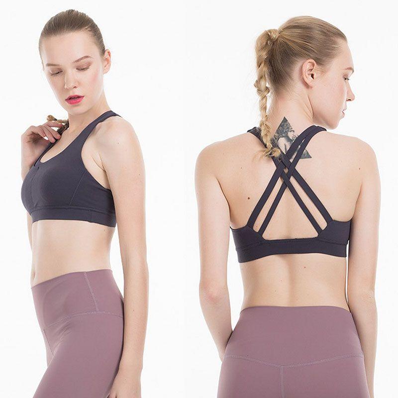 Donna Reggiseno sportivo Bassiera Yoga Womens Stylist T-shirt Gym Vest allenamento Bra Abbigliamento Canotta per le donne taglia XS-XL