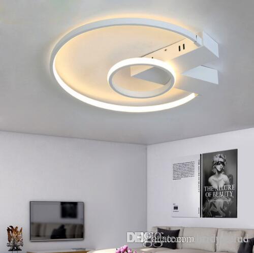 Светодиодный Потолочный Светильник Plafonnier Современное Освещение Plafondlamp Кольцо Света С Дистанционным Управлением В Гостиной Ресторан Спальня Ванная Комната