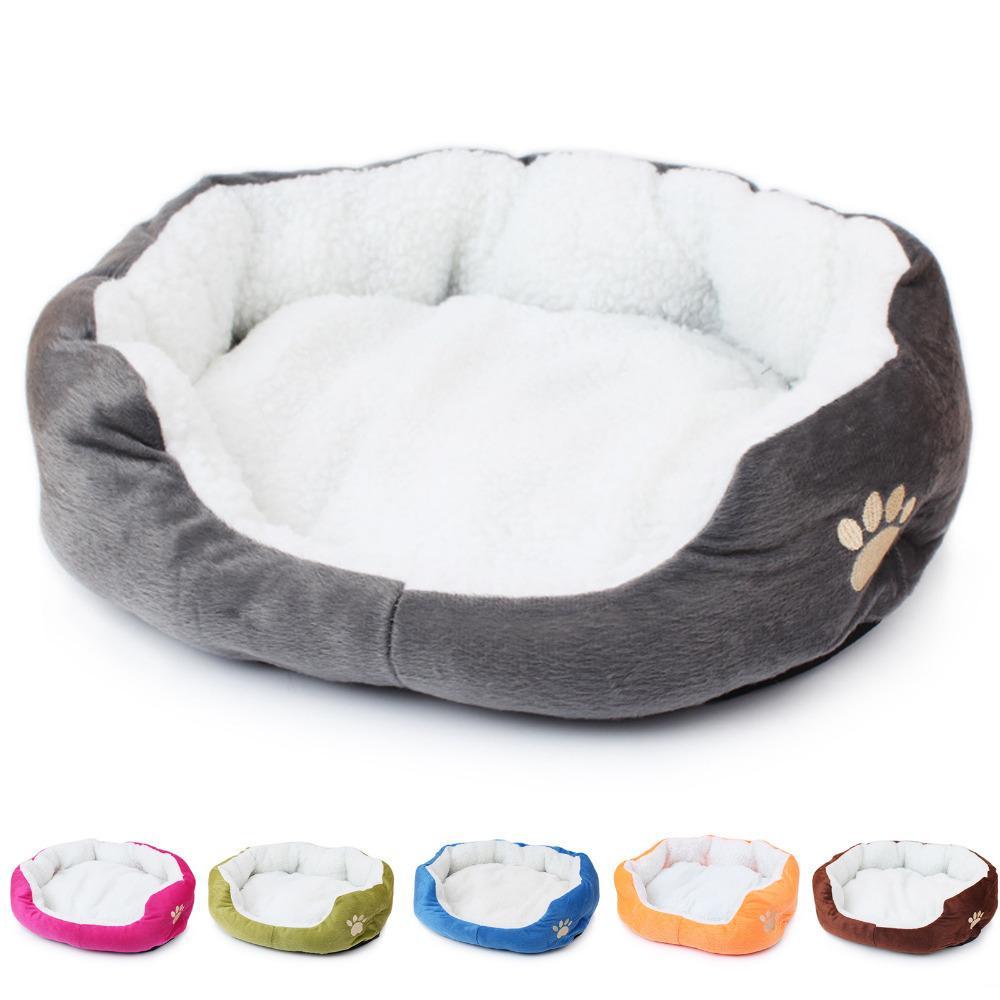 1Pcs 50*40cm Super Cute Soft Cat Bed Winter House for Cat Warm Cotton Dog Pet Products Mini Puppy Pet Dog Bed Soft Comfortable T200101