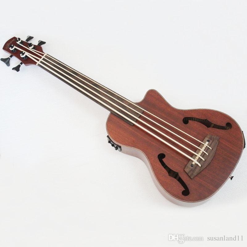 """30"""" Concert Ukulele Bass Mini Acoustic mahogany 4 strings Instruments Ukelele Bass with EQ"""
