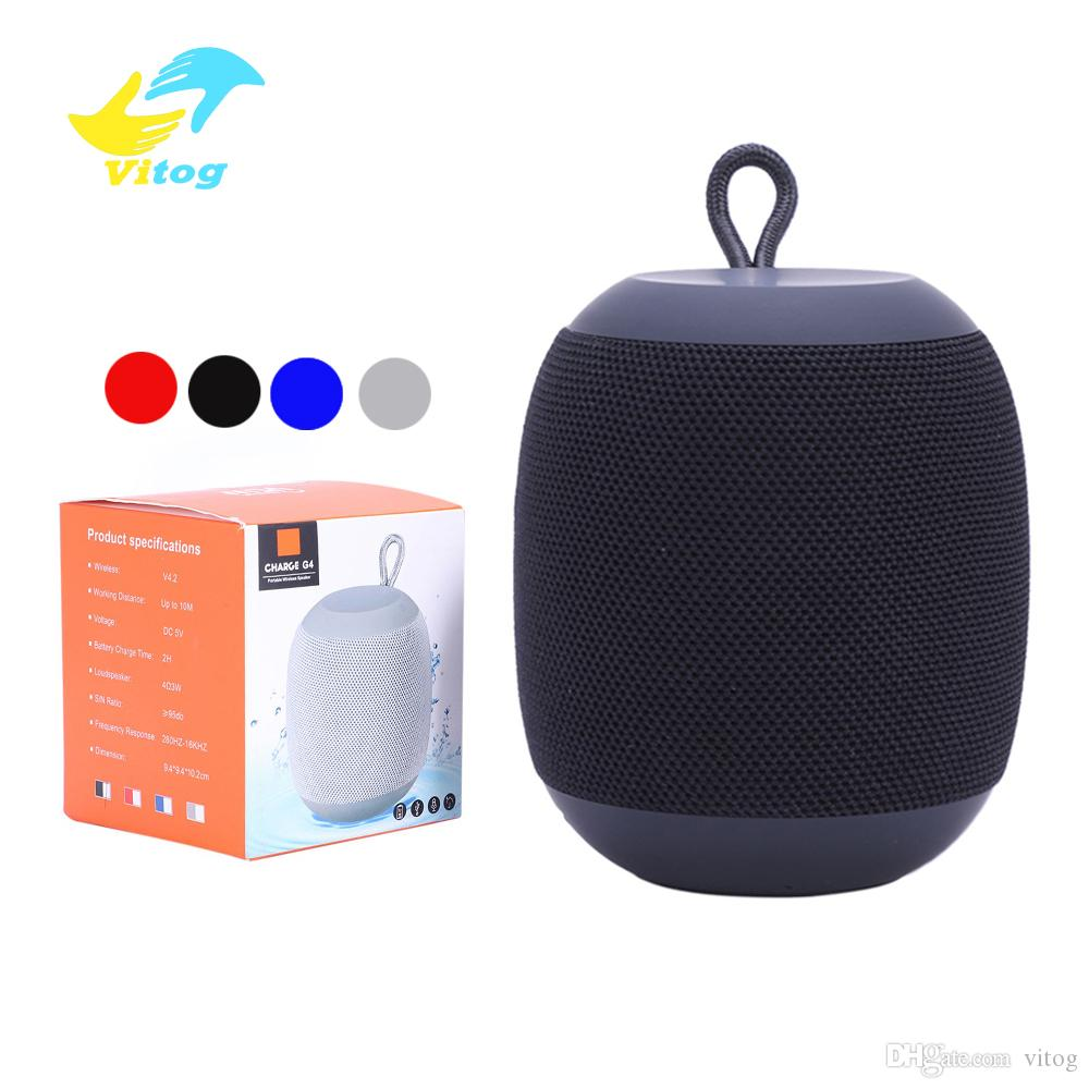 Portable G4 Wireless Bluetooth Speaker Outdoor Speakers Rechargeable Battery Support Micro-SD TF Card with Mic 3.5mm Port for moblie phone