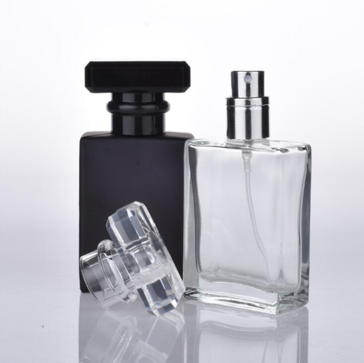 Дешевые Оптовая 30мл прямоугольный духи спрей бутылки 1 УНЦ пустой насос бутылка дух размера перемещения LX1084