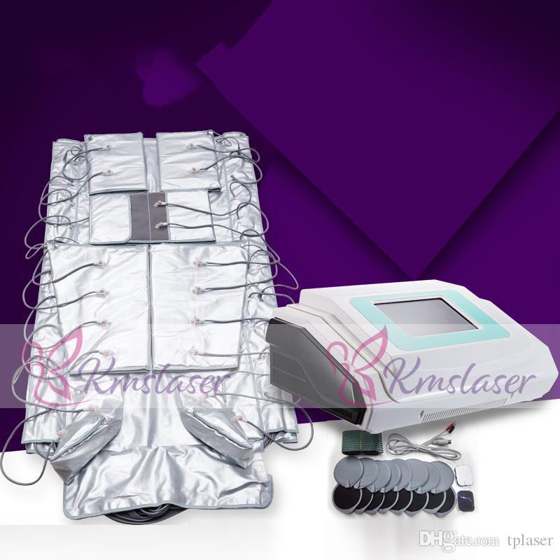 Novo 3 Em 1 Pressotherapy Infravermelho Distante EMS Estimulação Muscular Elétrica Pressão Ar Pressotherapy Lymph Drenagem Máquina de Emagrecimento Do Corpo