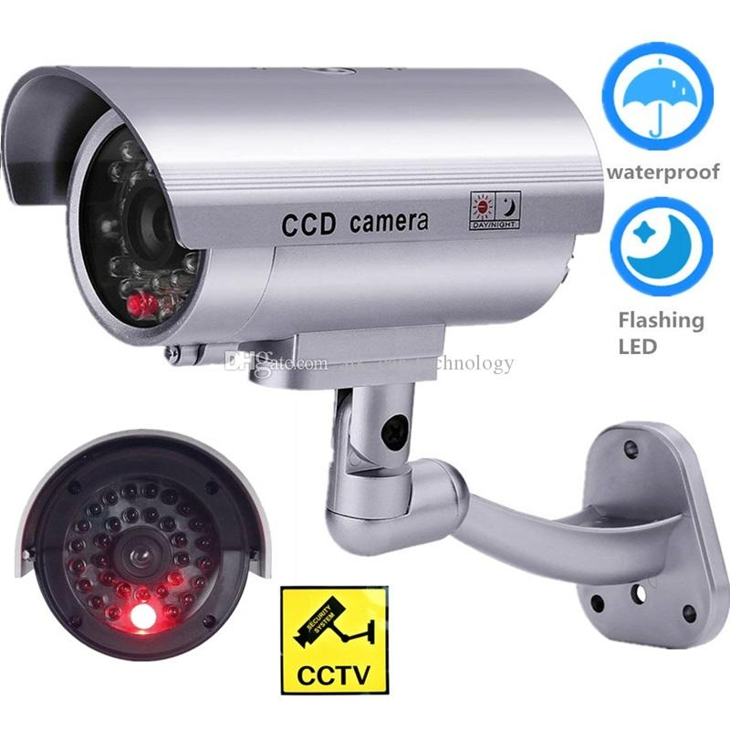 AlkTech 1PC CCTV Câmera Dummy Security Câmera Falsa Interior Ao Ar Livre Knipperend One LED Video Vigilância Dummy Cam