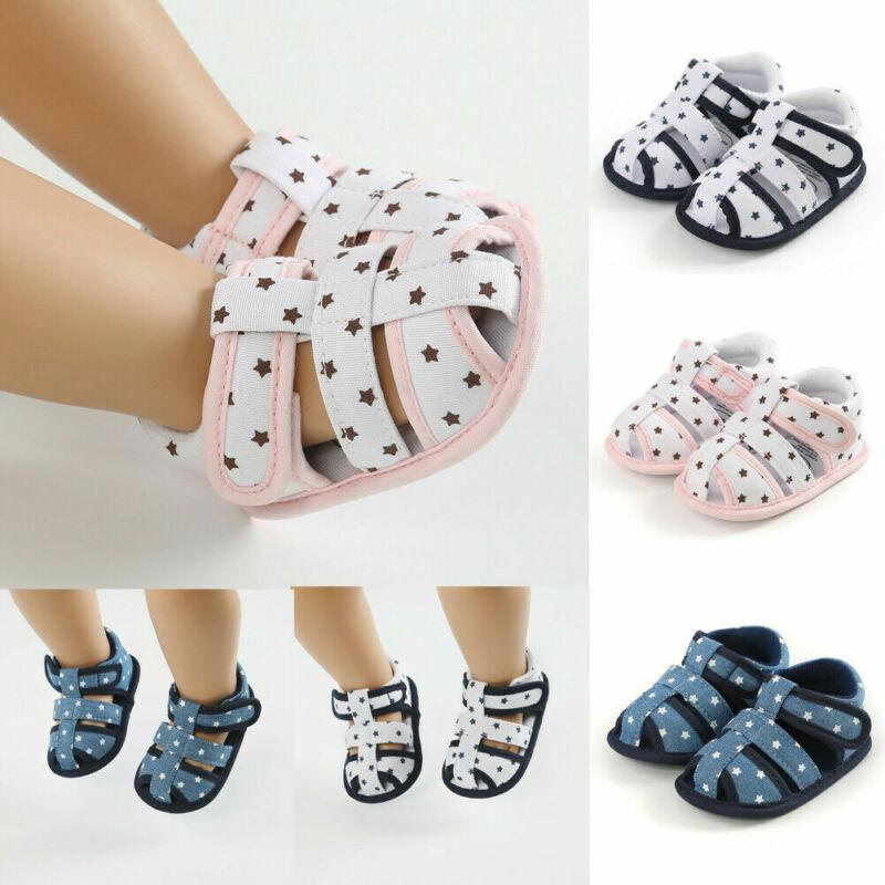 2020 Hot Summer Shoes récent infantile pour bébé enfant en bas âge Rose fleur fille Petti Berceau douce Chaussures plaine style 0-18Month