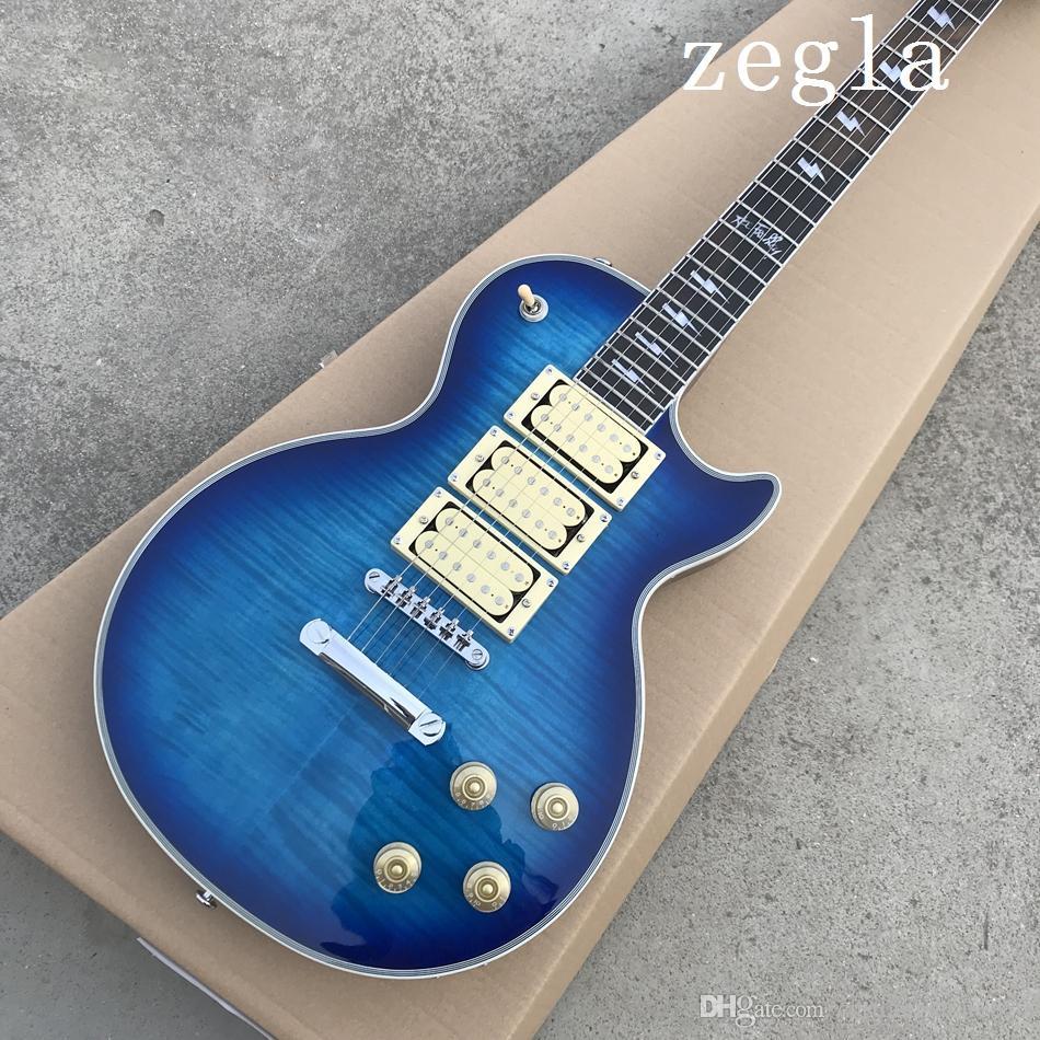 Novo estilo Ace frehley guitarra assinatura, de alta qualidade Custom shop Ace frehley 3 Três captadores Guitarra Elétrica, venda quente de guitarra