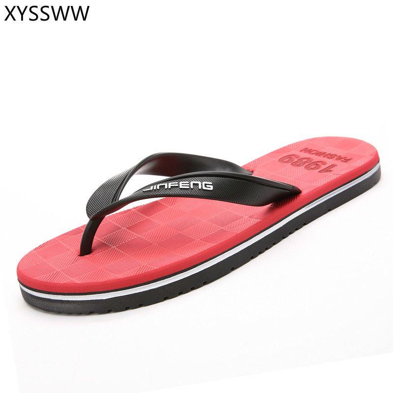 2018 Summer Fashion Big tamanho 39-45 Mens Summer Beach Flip Flops Chinelos Sandálias T200408