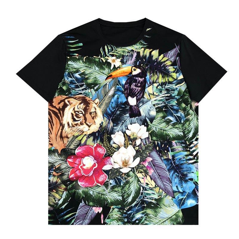 Homens Moda A50282 de cobre T Runway 2020 T-shirt europeus Projeto Curto cópia do estilo do partido roupas masculinas