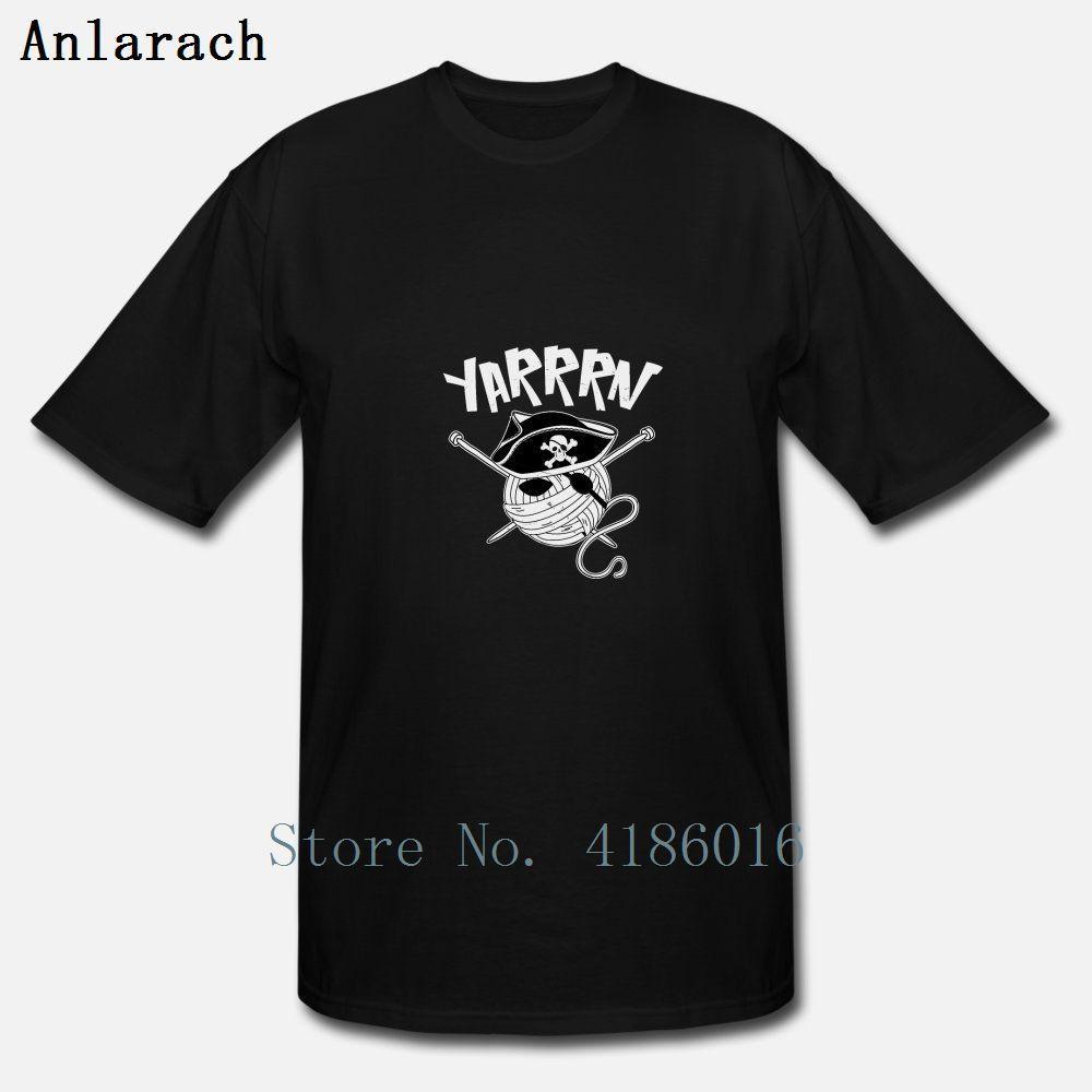 Lana T shirt divertente pirata maglieria uncinetto cucito filato cotone della camicia costume Pazzo girocollo primavera Umorismo Personalizza famiglia