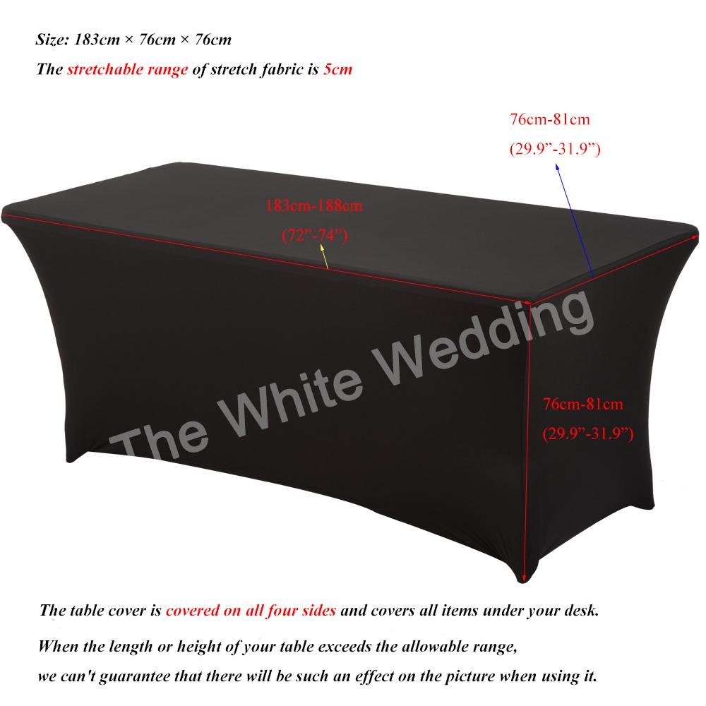 2019 White Spandex Lycra Home Kitchen Dining Linen Cloth Dj Wedding Tablecloths For Rectangular Table 4ft 6ft 8ft Q190603 From Yiwang08 23 26