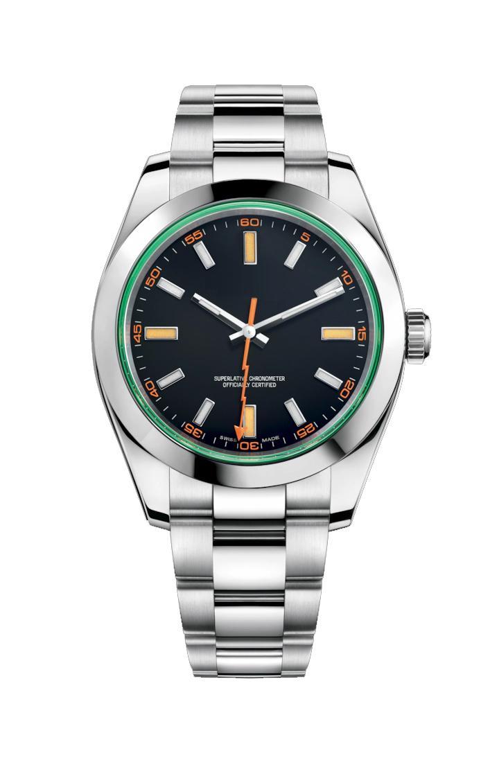 Yüksek kaliteli izle otomatik hareketi 43mm Paslanmaz çelik kayış erkek orologio di lusso montre de luxe saatı ücretsiz nakliye saatler