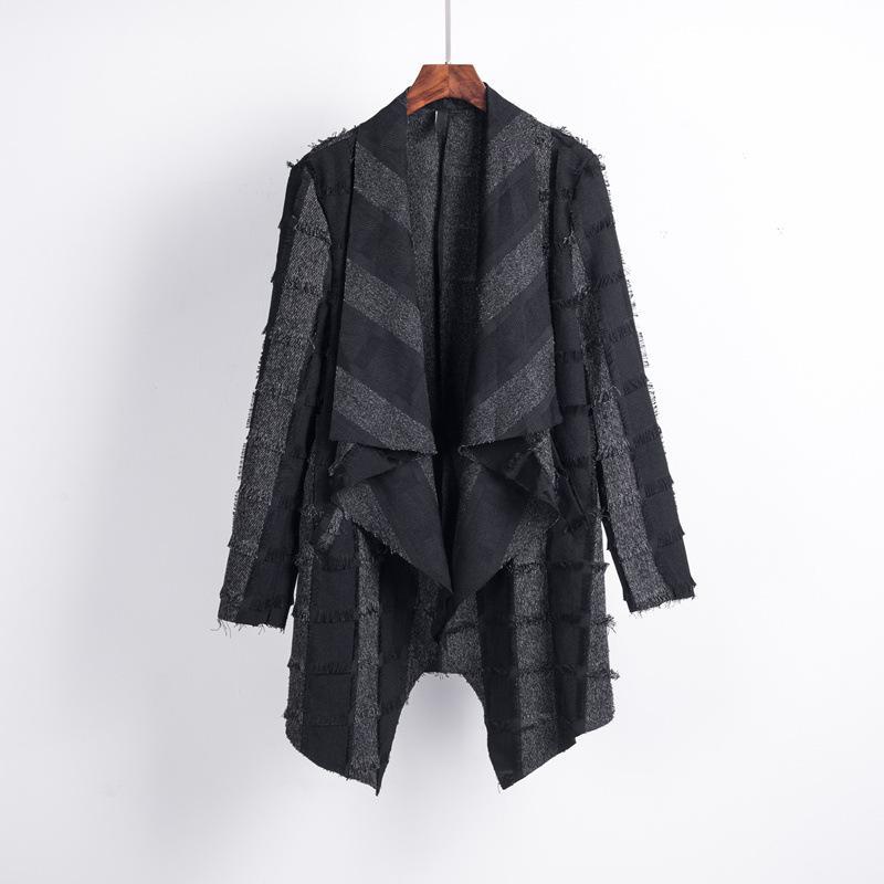 Hot Nuovi costumi cantante cappotto 2019 moda dj costume Hair Stylist medio lungo termine Uomo Slim giovane tutto-fiammifero